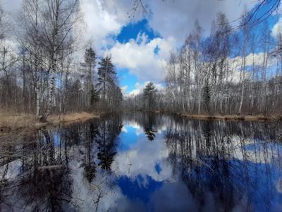 Весеннее небо. природа весна апрель