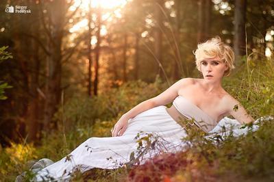 Sunset Olya закат девушка лес