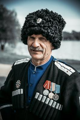 *** портрет старик казак