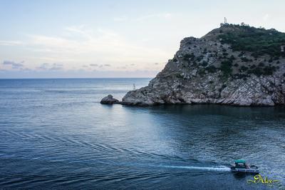 Бухта Балаклавы море бухта Балаклава вечер пейзаж катер Чёрное Крым
