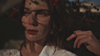 Рябиновый закат*** Портрет девушка закат красный рябина