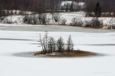 Про зиму и остров остров озеро зима