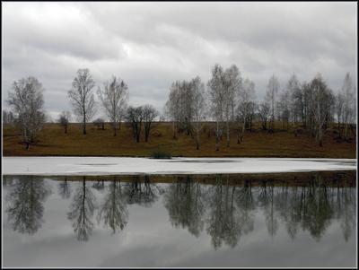 В зеркале льда Лед зеркало отражение осень октябрь