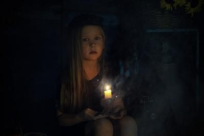 Племянница Девочка Хеллоуин портрет