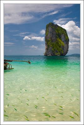 полосатые на подходе ... Тайланд  Крабби остров Пода море горы рыбки