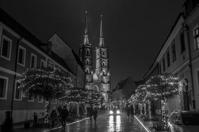 Noc we Wrocławiu Poland Polska Miasto City Wrocław