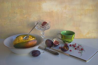 Манговый десерт манго фрукты натюрморт