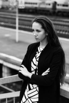 Black&White девушка черно-белое black white