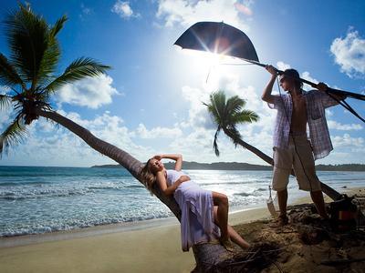 Работа над образом:) фото фотосессия Доминикана пляж пальма