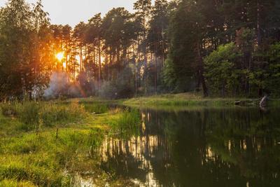 Сентябрьский вечер природа пейзаж осень вечер татарстан лебяжьи озера протока