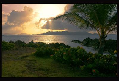 Рассвет  океан, горы, утро, рассвет