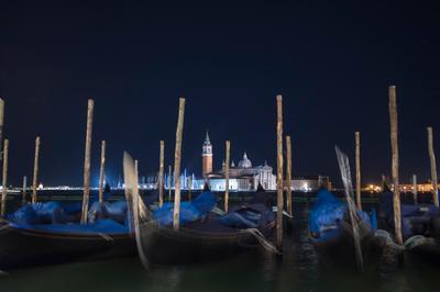 *** Венеция море вечер лодки