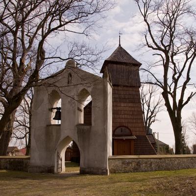 готический котёл св Катарны в Гоголове (Gogołów, Małopolska)  дервянная Малопольша