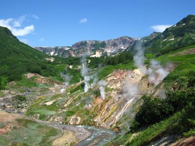 Долина гейзеров. Камчатка озеро природа скалы