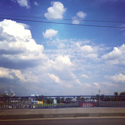белогривые... облака москва лето
