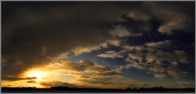 ...с запада небо гроза туча закат