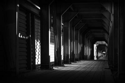 *** город Москва тоннель переход перспектива чб черно-белое улица