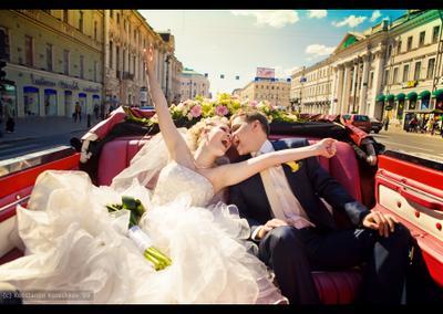 *** cвадьба невеста wedding чайка отражение кабриолет Питер Невский лимузин эмоции