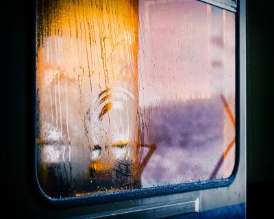 *** отражение окно зима свет цвет
