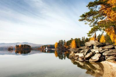 осенний Тургояк тургояк урал озеро осень зеркало