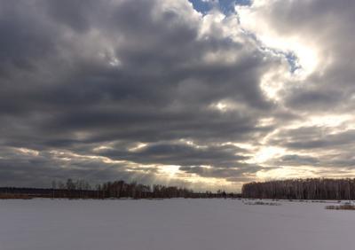 *** закат лучи небо