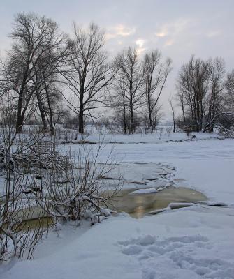 *** зима река