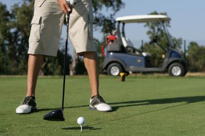 перед ударом спорт гольф