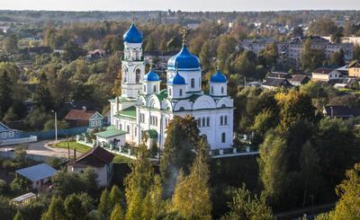 Торжок вид с надвратной башни кремля