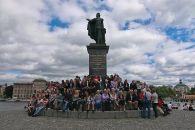 Грачи прилетели народ памятник Стокгольм Швеция