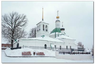 Владимир. Церковь Николая Чудотворца и Спасская церковь Владимир Церковь Николай Чудотворец снегопад зима