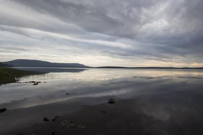 Вечер на озере Зюраткуль озеро Зюраткуль Урал