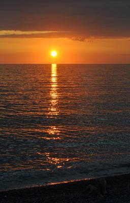 Закат Море солнце закат