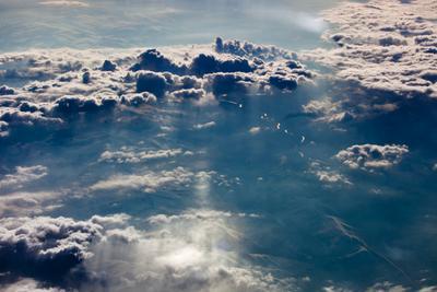 Небесное настроение Трансаэро Боинг Дальний Восток небо сопки облака