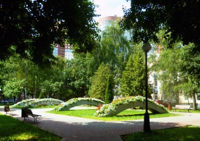 Цветочные арки Парк лето арки