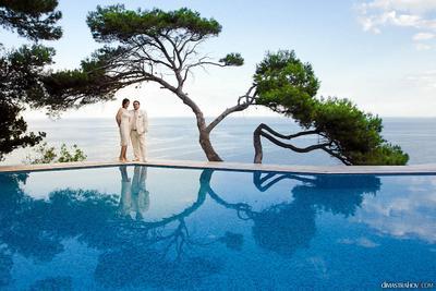 Кичкине свадьба, пара, вода, бассеин, море, Кичкине, Крым