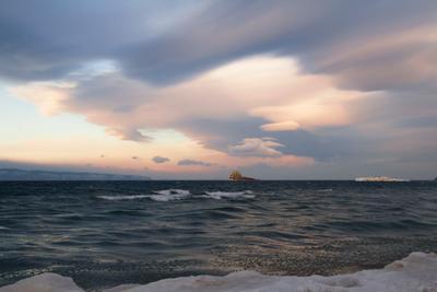 Малое море в декабре.. байкал малое море о.Едор о.Модото декабрь