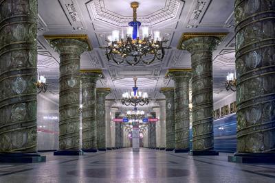 Метро Петербурга город архитектура интерьер метро станция
