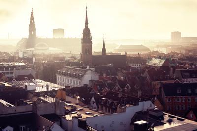 Крыши Копенгагена. Дания. Крыши Копенгаген Город Утро