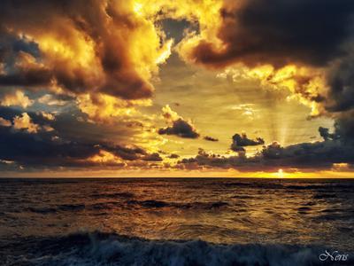 *** море солнце облака