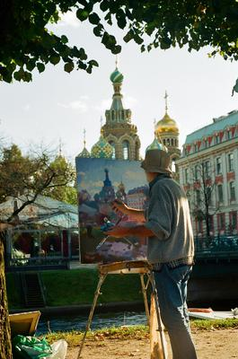 *** Санкт-Петербург художник пленка картина