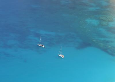Изумрудный Myrtos Myrtos beach Kefalonia island Ionian sea Greece