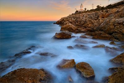 Lighthouse dreams пейзаж небо море длинная экспозиция скалы закат
