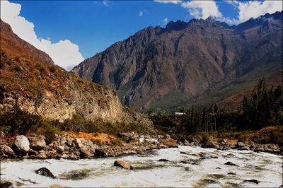 Анды: долина реки Урубамба Перу, Анлы, Урубамба
