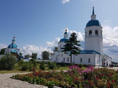 Спасо-Преображенский мужской монастырь г.Енисейск артитектура памятник Сибирь Енисейск 1642-1827 годы