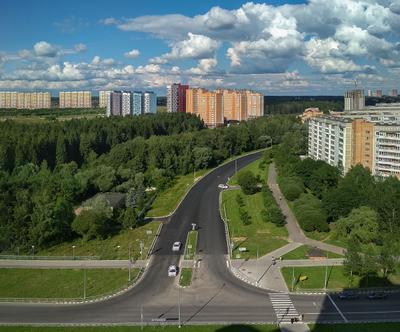 Город О город архитектура пейзаж природа Обнинск Россия небо облака