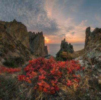 Кара-Даг осенний Крым кара-даг октябрь осень рассвет