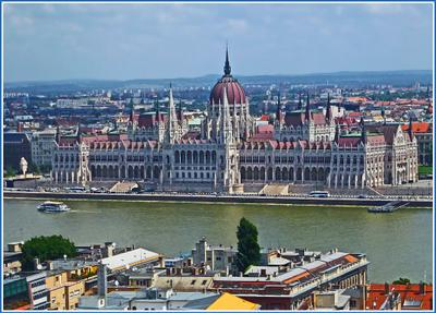 Архитектурная жемчужина венгерской столицы Венгрия Будапешт Budapest река Дунай Danube Duna парламент