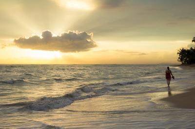 восход на Атлантике восход рассвет Доминикана Атлантический океан