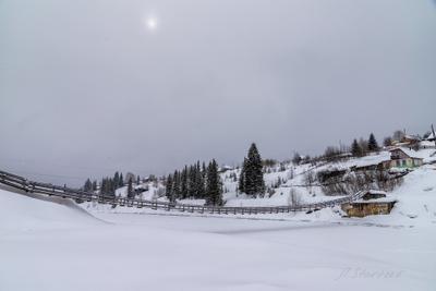 Река Койва Урал туризм снег река природа поселок Пермский_край пейзаж Койва зима мост