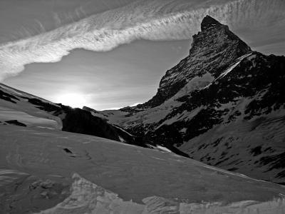 Вечерний пейзаж Швейцарии Маттехорн